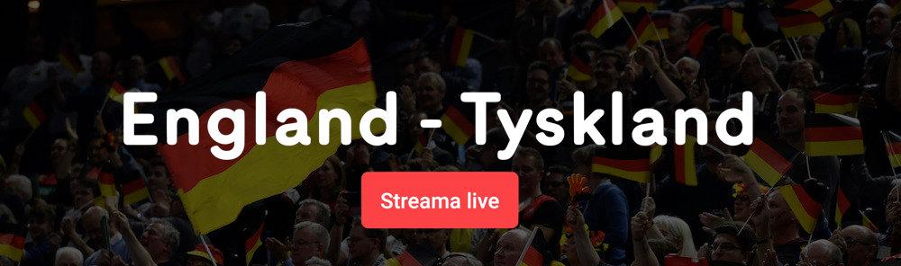England Tyskland live stream gratis