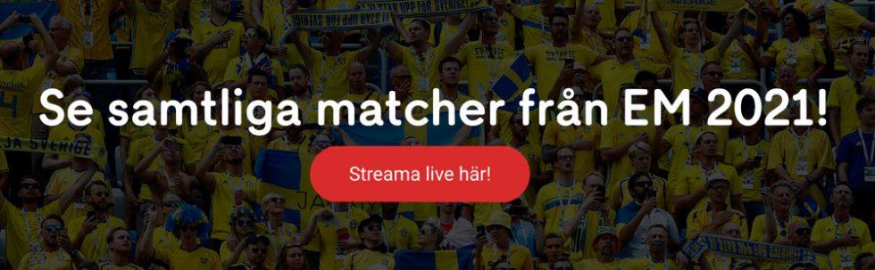 Se Fotbolls EM 2021 live stream? Titta på Euro 2020 live streaming hos Cmore!