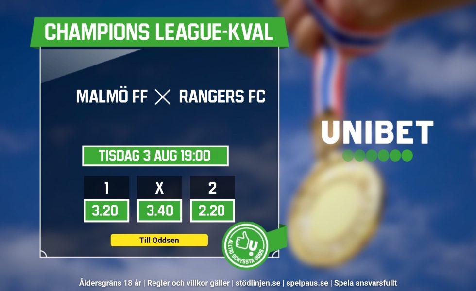 Malmö FF Rangers FC live stream gratis? Så kan du se och streama MFF Rangers live ikväll!